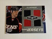 ALEX KOVALEV 2010-11 UD Black Diamond Game-Used Quad Jerseys NHL + BONUS Cards