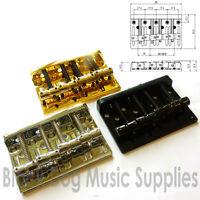 Quality hardtail / through body bass guitar bridge chrome black or gold BB101
