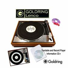 Goldring Lenco turntable record player service instruction owner manuals on CD