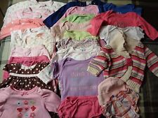 Lot of 24 pieces, girs 3-6 months clothing outfits.