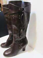 "AEROSOLES~Dark Brown~Leather~18-1/2"" High Dress Boot~3"" Heel~Side Zip~Size 10M."