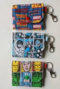 MARVEL SUPERHERO'S Coin Purse/Earphone Pouch - School, Party, Gift - Handmade