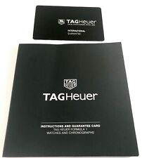 Tag Heuer Operational Manual for Formula 1 and Chronograph Watches..