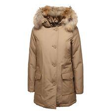 0775K parka donna WOOLRICH ARTIC PARKA DARK BEIGE real fur jacket woman