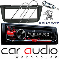 Peugeot 406 JVC CD MP3 USB AUX In Car Stereo Radio Player & Full Fitting Kit