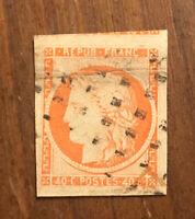 France 1849 Sc.7 Used Signed H Stamp