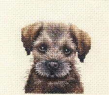 BORDER TERRIER PUPPY ~ Dog, Full counted cross stitch kit + All materials