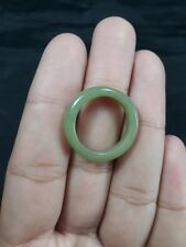 Natural  Grade A  Jadiete  Jade ring stone carving  Size  6.5 A7 176