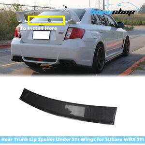 Lip Spoiler Under STI Boot Wing Fit For Subaru Impreza WRX 3rd 08-14 Carbon