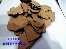 BUMPER  200   PACK 40mm plain HEARTS Great Deal scrapbooking charm Embelishments