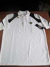 Antigua New Orleans Saints Innovate Dessert Dry Xtra-Lite Polo Shirt Small Wht