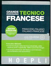 GRANDE DIZIONARIO TECNICO FRANCESE HOEPLI  2003 CON CD ROM