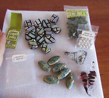 Beading & Jewelry Supplies, fancy large glass beads, 2 art glass pendants, more