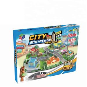 City Miniature 3D Paper Puzzle - 69 PCS