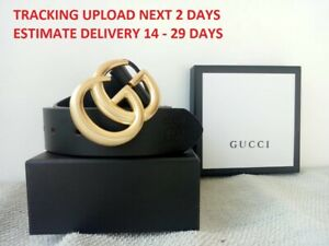 Gucci Authentic Leather  Double GG Buckle For Woman Belt 2020 model - 95 cm (38)