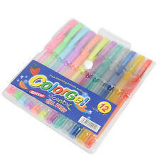 12x Rollerball Scented GEL Pen Glitter Neon Assorted Colours Drawing Craft Art B