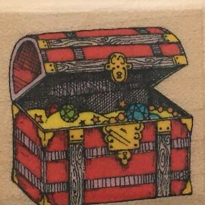 Hero Arts Rubber Stamp Tiny Treasure Chest Trunk Pirate Card Making Craft A346
