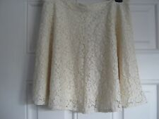 TopShop cream lace skirt, lined, size 8, NEW with tags, RRP £25