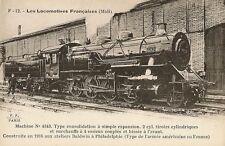 CARTE POSTALE LES LOCOMOTIVES FRANCAISES MACHINE N°4343 TYPE CONSOLIDATION