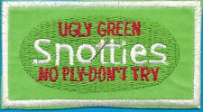 """SNOTTIES UGLY GREEN NO PLY-DON'T TRY SPOOF PRODUCT IRON ON PATCH NEW"