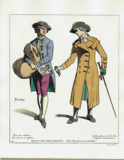 French and English Middle Class Dress 1778 to 1779  - Jacquemin 1869 Print
