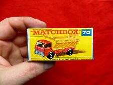 1960's LESNEY MATCHBOX  NO .70 GRIT SPREADER WITH ORIGINAL BOX