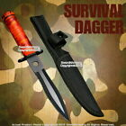 Red Camo Color Fixed Blade Tactical Knife Dagger with Survival Kit and Compass