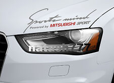 Sports Mind Powered by MITSUBISHI SPORT Racing Decal sticker emblem SILVER/RED