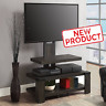 3-Shelf TV Stand w/ Floater Mount Flat 55 Inch Media Entertainment Center Brown