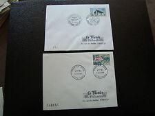 FRANCE - 2 enveloppes 1er jour (le monde des philateliste) 1963/1964 (cy43)