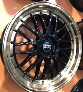 """STR RACING LM MESH BBS RP 20"""" STAGGERED ALLOY WHEELS JAPANESE VEHICLES"""