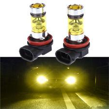 2X H8 H11 2828 20LED 100W High Power Led Lights Fog Light Headlight Lamp Yellow