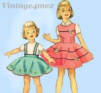 Simplicity 1823: 1950s Baby Girls Skirt or Jumper Size 1 Vintage Sewing Pattern