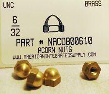 #6-32 Acorn Cap Nuts Solid Brass (25)