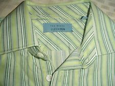 Ted Baker Elevated Shirt Green 15 Collar , Cuffs for Cuff links