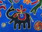 Decorative Indian Style Tapestry Wall Hanging Multi Color Embroidery Elephants