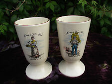 2 Old Fashioned Ceramic Vases Paris French Market Merchants