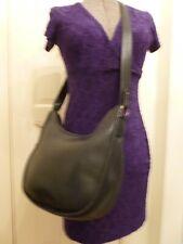 Vintage Coach Leather Crossbody Messenger Purse Shoulder Bag HOBO Black Large