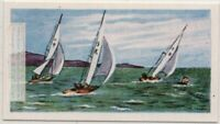 Sailing As A Summer Olympic Event  Vintage Trade Ad Card