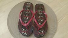 TOMMY HILFIGER  Women's Red/Multi Flip Flops Thong Sandals Size 11-12 (L)
