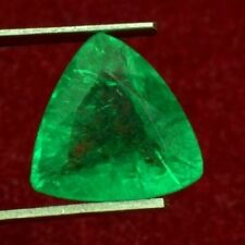 14.5x14mm (8.30cts) TRILLIANT-FACET CERTIFIED NATURAL (GGL) COLOMBIAN EMERALD