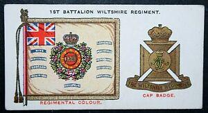 Wiltshire Regiment  1st Battalion Insignia  Original 1930 Card  CAT M