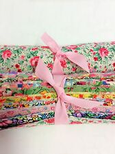 "28 Vintage Bouquet Shabby chic light precut 10"" layer cake  fabric quilt"