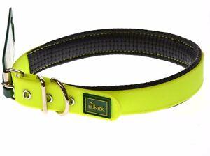 Hunter Dog Collar Convenience Comfort Neon Yellow 25mm 55cm 62079 OPEN BOX