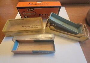 Lot Of 6 Vintage Fishing Lure Boxes- Empty- Rebel/ Shakespeare/ Arbogast/ Rapala