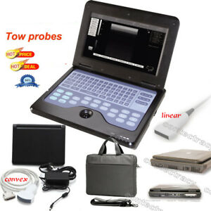 Notebook style Ultrasound Scanner CMS600P2 machine,3.5M Convex+7.5M linear probe