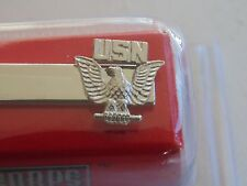 USN NAVY SEAL SAILOR SEABEE AIRMAN E-1 TO E-3 ENLISTED SILVER TIEBAR TIE CLASP