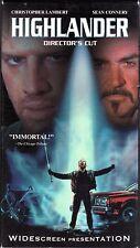 Highlander~Christopher Lambert~Sean Connery~Widescreen~VHS~MINT~1st Class Mail