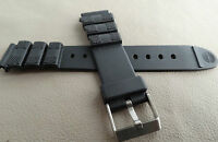 New Mens Timex Black Water Resistant Sport 18mm Watch Band Fits Digital,Military