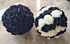Black Rose Flower Ball Wedding decoratin Ball Kissing Ball 11-12 Inches